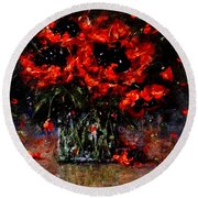 Whispers Of Love  Round Beach Towel by Cristina Mihailescu