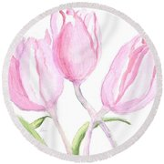 Whispers Of Spring Round Beach Towel