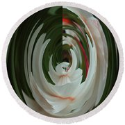Round Beach Towel featuring the photograph White Form by Nareeta Martin
