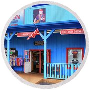 Willie Nelson And Friends Museum And Souvenir Store In Nashville, Tn, Usa Round Beach Towel