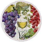 Wines Of Paris II Round Beach Towel