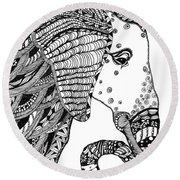 Wise Elephant Round Beach Towel