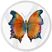 1 Wizard Butterfly Round Beach Towel by Amy Kirkpatrick