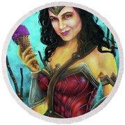 Wonder Woman Round Beach Towel
