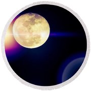 Wouldn't It Be Great If The #moon And Round Beach Towel