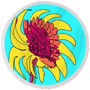 Yes. This Is A Flower, Child Round Beach Towel