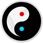Yin And Yang Round Beach Towel