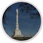 Yorktown Victory Monument Round Beach Towel