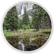 Yosemite View 16 Round Beach Towel