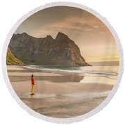 Your Own Beach Round Beach Towel by Alex Conu