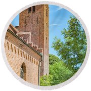Round Beach Towel featuring the photograph Ystad Monastery In Sweden by Antony McAulay