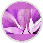Yucca Abstract 2 Round Beach Towel