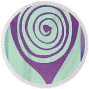 Zen Heart Labyrinth Path Round Beach Towel