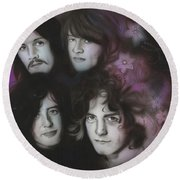 Led Zeppelin - ' Zeppelin ' Round Beach Towel by Christian Chapman Art
