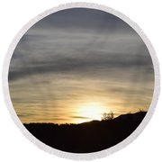 Sunrise Back Country Co Round Beach Towel