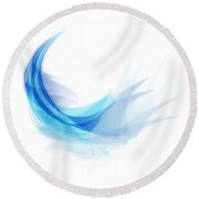 Round Beach Towel featuring the painting Abstract Feather by Setsiri Silapasuwanchai