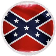 Confederate Flag 10 Round Beach Towel