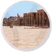 Round Beach Towel featuring the photograph Temple Of Isis by Silvia Bruno