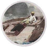 The Gulf Stream Round Beach Towel by Winslow Homer