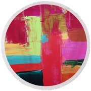 Untitled Round Beach Towel by Tamara Savchenko