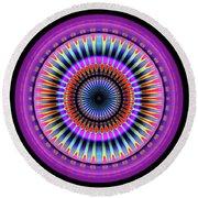 Round Beach Towel featuring the digital art 101520177 by Visual Artist Frank Bonilla