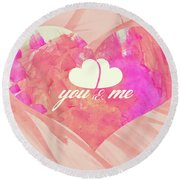 10183 You And Me Round Beach Towel