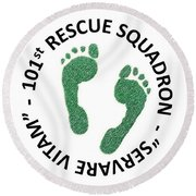 101st Rescue Squadron Round Beach Towel