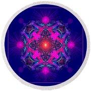 1028 -  A Mandala Purple And Pink 2017 Round Beach Towel