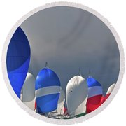 September Colors Round Beach Towel