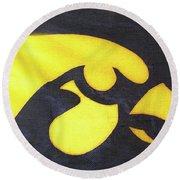 10724  Iowa Hawkeye Round Beach Towel