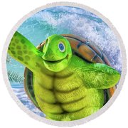 10731 Myrtle The Turtle Round Beach Towel