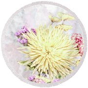 10865 Spring Bouquet Round Beach Towel
