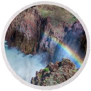 10883 Rainbow Over Owyhee Round Beach Towel