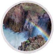10883 Rainbow Over Owyhee Round Beach Towel