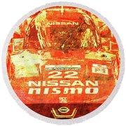 109 - Nissan Le Mans 2015 Round Beach Towel