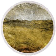 10b Abstract Expressionism Digital Painting Round Beach Towel
