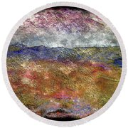 10c Abstract Expressionism Digital Painting Round Beach Towel
