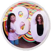 80's Dance Party At Sterling Events Center Round Beach Towel