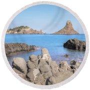 Aci Trezza - Sicily Round Beach Towel by Joana Kruse