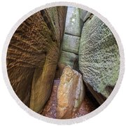 Round Beach Towel featuring the photograph Great Virginia Channels  by Kevin Blackburn