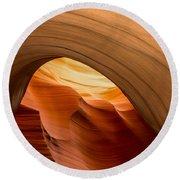 Lower Antelope Canyon Navajo Tribal Park #12 Round Beach Towel