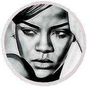 Rihanna Collection Round Beach Towel by Marvin Blaine