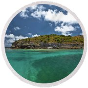 Sea And Clouds Round Beach Towel