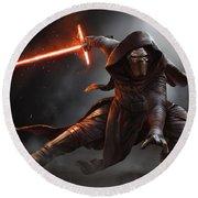 Star Wars Episode Vii - The Force Awakens 2015 Round Beach Towel
