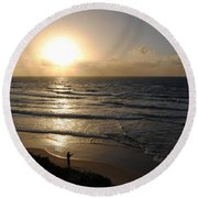 Sunset At Jaffa Beach 5 Round Beach Towel