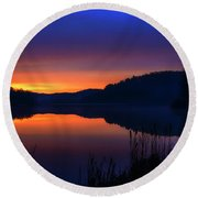 Round Beach Towel featuring the photograph Winter Dawn by Thomas R Fletcher