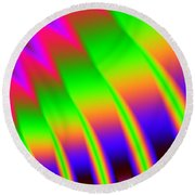 Round Beach Towel featuring the digital art 110 In The Shade by Kevin Caudill