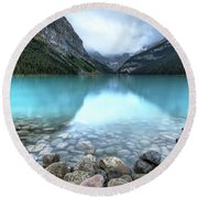 1111 Lake Louise Round Beach Towel