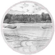11th Hole - Trump National Golf Club Round Beach Towel