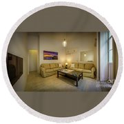Round Beach Towel featuring the photograph Apartment In The Heart Of Cadiz by Pablo Avanzini